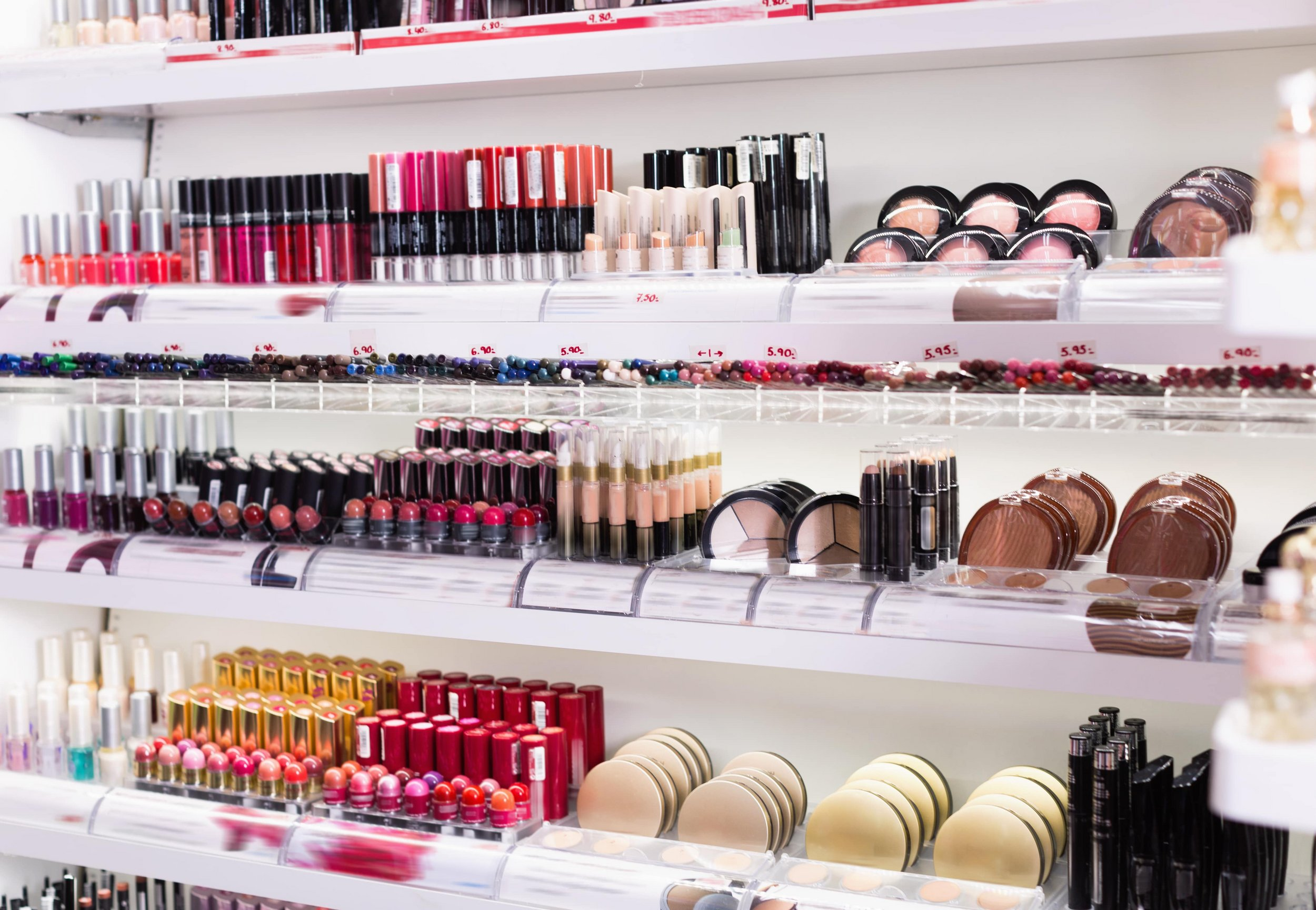 Large cosmetics collection